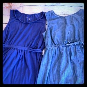 Bundle of two maternity dresses size medium